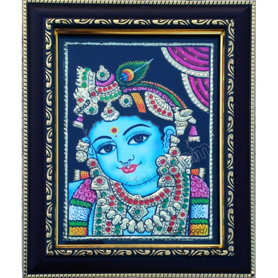 Baby Krishna Tanjore Paintings