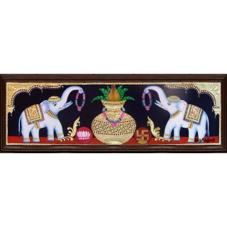 Kalasa Lakshmi Tanjore Painting