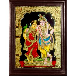 Krishna and Radhe Tanjore Painting