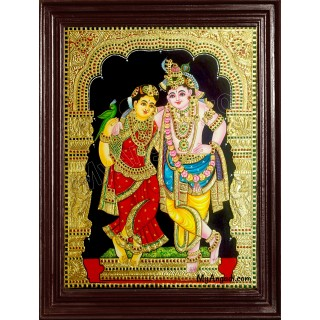 Krishna and Radhe Tanjore Painting