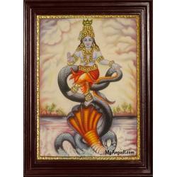 Kalinga Narthana Krishna Tanjore Painting