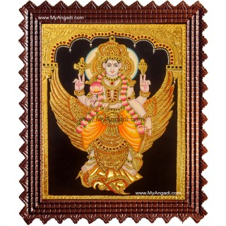 Vishnu in Garudan Tanjore Painting