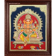 Ganapathi Tanjore Painting Tanjore Painting