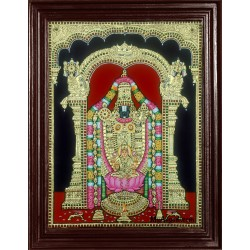 Balaji with Lakshmi Tanjore Painting