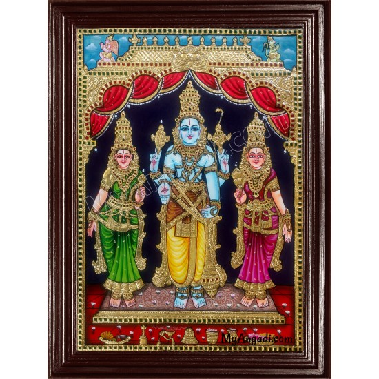 Koodal Azhagar / Kal Azhagar Tanjore Painting