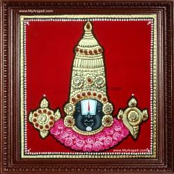 Balaji Face Tanjore Painting