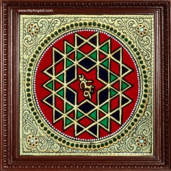 Shree Chakram Tanjore Painting