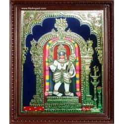 Ashtamsa Sri Varada Anjaneya Tanjore Painting