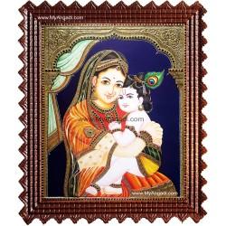 Yasothai Krishna Tanjore Painting
