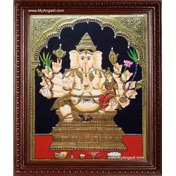 Vallaba Vinayakar Tanjore Painting