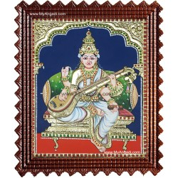 Saraswathi Tanjore Painting