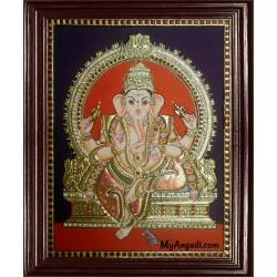 Ganapathi Tanjore Painting