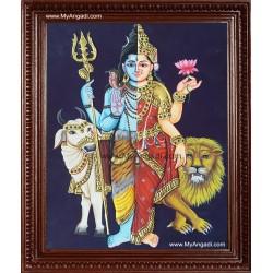 Arthanareeswarar Tanjore Painting