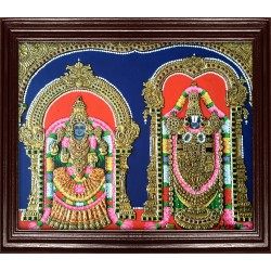 Balaji and Thaayar Tanjore Painting