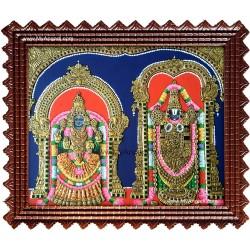 Balaji and Thaayar Tanjore Painting