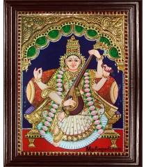 Saraswati Tanjore Painting