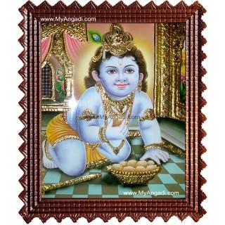 Taval Krishna Tanjore Painting, Krishna Tanjore Painting