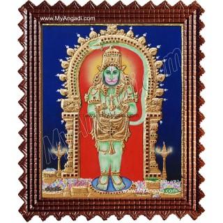 Hanuman Tanjore Painting, Anchaneyar Tanjore Painting