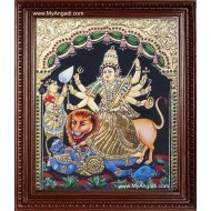 Durgai Tanjore Painting, Amman Tanjore Painting