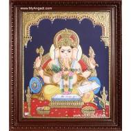 Book Ganesha Tanjore Painting, Ganesha Tanjore Painting