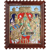 Ramar Pattabhishekam Tanjore Painting, Ram Pattabisekam