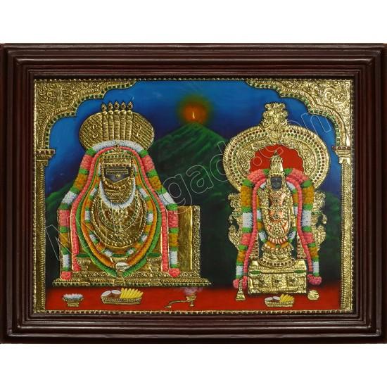 Annamalaiyaar & Unnamalaiyaar Tanjore Painting