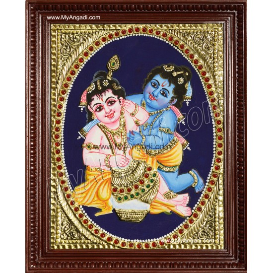 Balaram Krishna Tanjore Painting