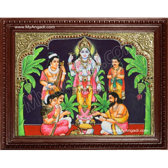 Sathyanarayana Tanjore Painting