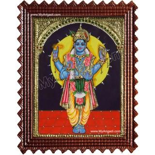 Lord Vishnu Tanjore Painting