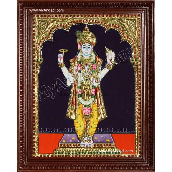 Lord Dhanvantari - Vishnu Tanjore Painting