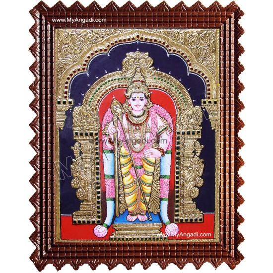 Murugan Raja Alankaram Tanjore Painting