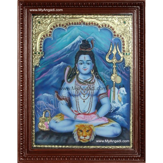 Lord Shiva Tanjore Painting