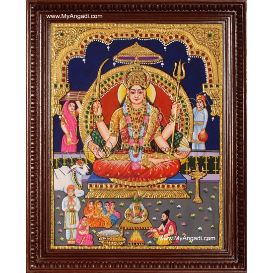 Santhoshi Matha Tanjore Painting