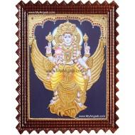 Garudan Vishnu Tanjore Painting