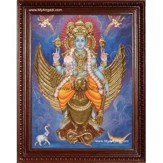 Narayanan Gajendra Moksham Tanjore Painting