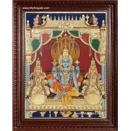 Vaikundanathan Tanjore Painting, Vishnu