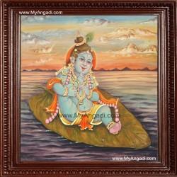 Alilai Krishna Tanjore Painting