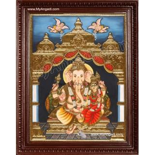 Siddhi Vinayaka / Ganapathi Tanjore Painting