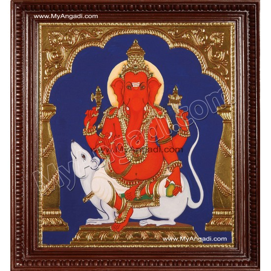 Chendura Ganesha Tanjore Painting