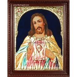 Jesus Tanjore Painting