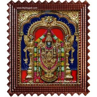 Tirupati Balaji Super Emboss Tanjore Painting
