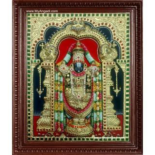 Tirupathi Balaji Super Emboss Tanjore Painting