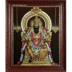 Raja Rajeswari Super Emboss Tanjore Painting