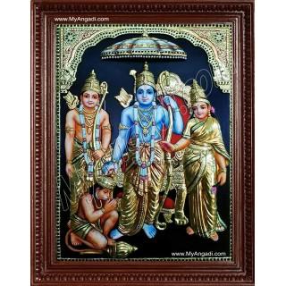 Kothanda Ramar Super Emboss Tanjore Painting