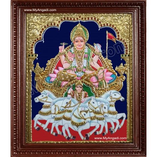 Surya Narayanan Tanjore Painting