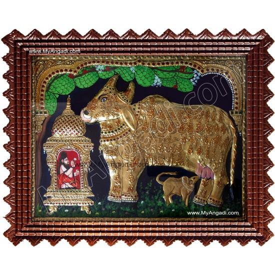 Komatha with Saint Tanjore Painting