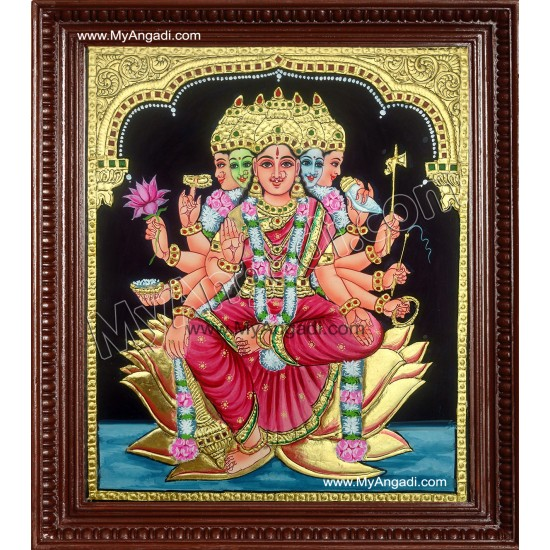 Gayathri Devi Tanjore Painting