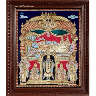 Ranganathar Tanjore Paintings - Antique Style