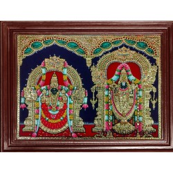 Balaji and Padmavathi Amman Tanjore Paintings