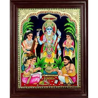 Sathya Narayanan Tanjore Painting